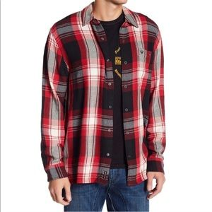 True Religion Red Plaid Shirt NWT